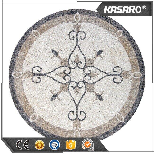 Round Marble Mosaic Tile Puzzle Floor Mosaic Medallions
