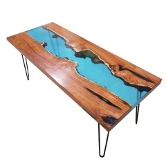 Solid Wood Dining Table  Dining Table Epoxy River Computer Desk