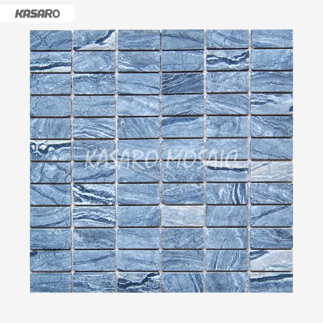 Artificial Stone Mosaics,Marble Stone Mosaic Tile, Blue Marble Mosaic