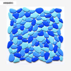 Recycled Glass Mosaic Blue Swimming Pool Tile