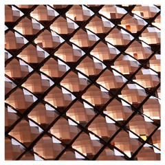 Tawny diamond pattern mosaic beveled mirror tiles wholesale