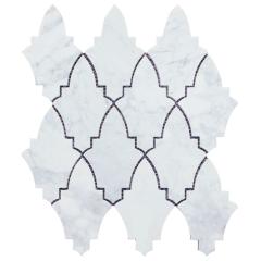 Italy bianco carrara white natural marble hexagon stone kitchen backsplash mosaic tile