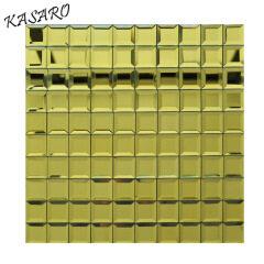 Tiles Wall Backsplash Gold Beveled Glass Mirror Mosaic