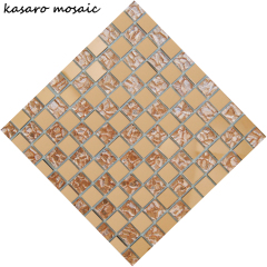 2017 Hit Shinning Decorative Mirror Mosaic Mirror Glass Mosaic Tile Glass Mosaic Frame Mirror KMR-S3002