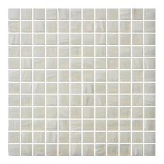 23x23 mm white Golden Line glass mosaic wall tile