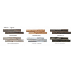 Weatherd 3D wooden wall cladding  Wood Wall Panel