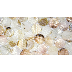 White Wall Decoration Pearl Shell  Round Mosaic