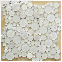 White Pebble Mesh Mosaic Tile (KSL8592)