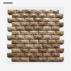 Art Stone Blend Glass Mosaic Tile Emperador Mosaic