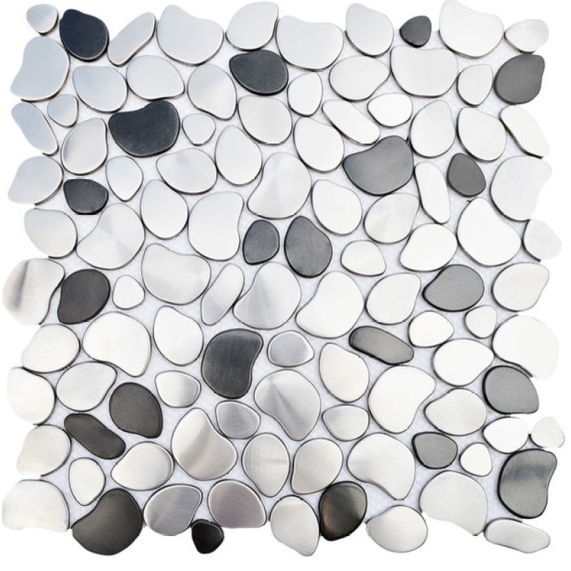 Hot Sale Pebble Pattern Stainless Steel Metal Mosaic Tiles