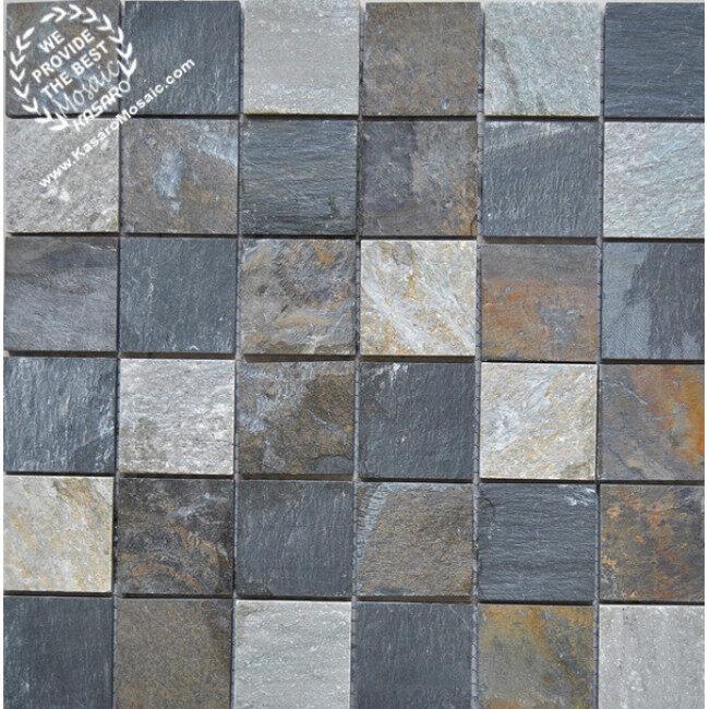 Stone mosaic pattern decoration rustic stone, rustic stone wall, rustic stone mosaic KS-S3015