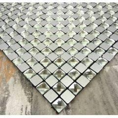 Tiles Manufacturers in China Mirror Glass Backsplash Self-adhesive Mosaic Tiles