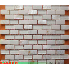 White Tile for Bathroom, Mother Of Pearl Bathroom Tiles, Glass Mix Shell Mosaic (KSL8881)