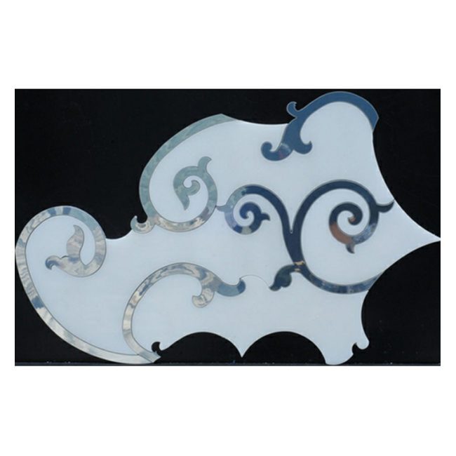 Best Popular Dolomite marble and mother of pearl water jet arabesque mosaic