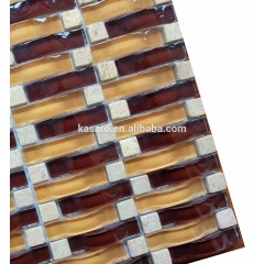 Wave Series Glass and Stone Mosaic