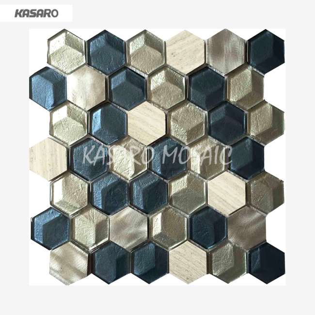 3D Wall Tile Bathroom Wall Decoration Glass Tile