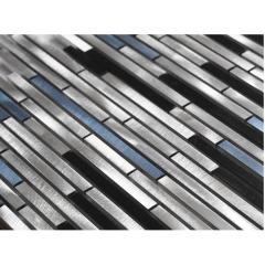 Brushed Aluminum Mosaic Strip Metal Mosaic, Aluminum Mosaic Sheet KAM-L3002