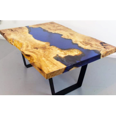 Top Glass Epoxy Resin Wood Table And Coffee Table