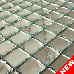 Shinning Silver Mirror Crystal Glass, Mirror Finish Glass Mosaic, Silver Mirror Mosaic Tile (KMO20130006)