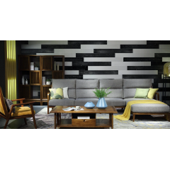 Trending Solid Wood 3D Board Effect Wall Panel