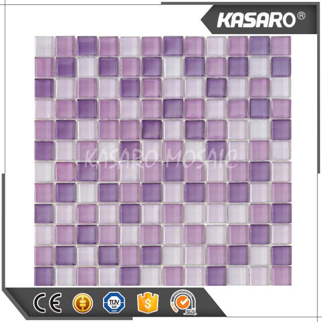 Wholesale Glass Mosaic Tile Purple Backsplash Tiles Mosaic