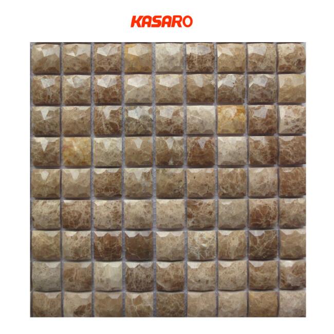 Fashionable 3d Beveled Stone Marble Mosaic Tile Raised Stone