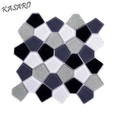 Pentangular glass tile mosaic home decoration items