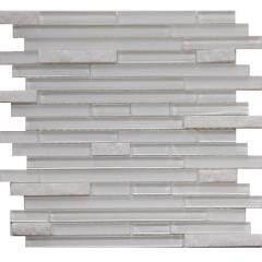 White Glass Mix Shining Stone Mosaic Tiels,Mix Material Mosac Tiels Quartz Stone