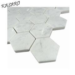 White Hexagon Home Marble Floor Design Marble Tile