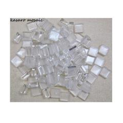 Super Clear Mosaic Chips Loose Tiles For DIY Transparent Chips Pure White Glass Mosaic