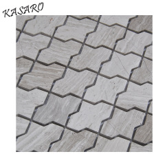 Water Jet Natural Marble Stone Mosaic Kitchen Wall Tiles