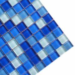 Thickness 4 mm glass mosaics, pool mosaic tiles, swimming pool glass mosaic tiles (KY-ZR2013150)