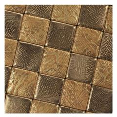 Kasaro supplies golden leather mosaic wall tile designs KL-S4073102