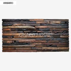 Waterproof Old Boat Wooden Mosaic Tile 3d Bathroom Wall Panel