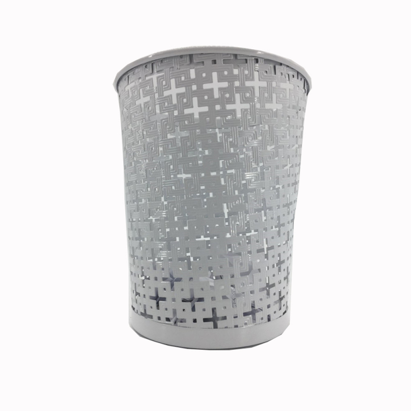 Wideny custom design powder coated office school home supply hollowed out metal wire trash can waste bin