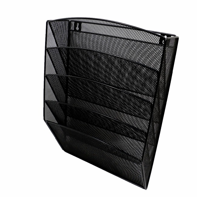 office home metal mesh wall hanging file organizer