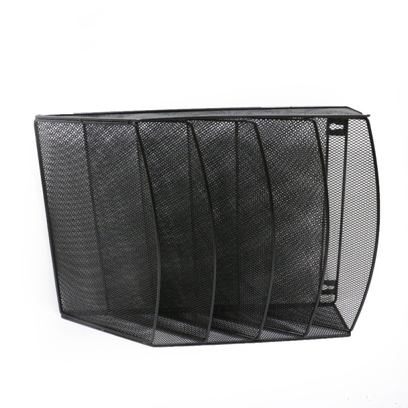 Amazon hot sale office home storage black mesh hanging wall mounted document file organizer for letter holder