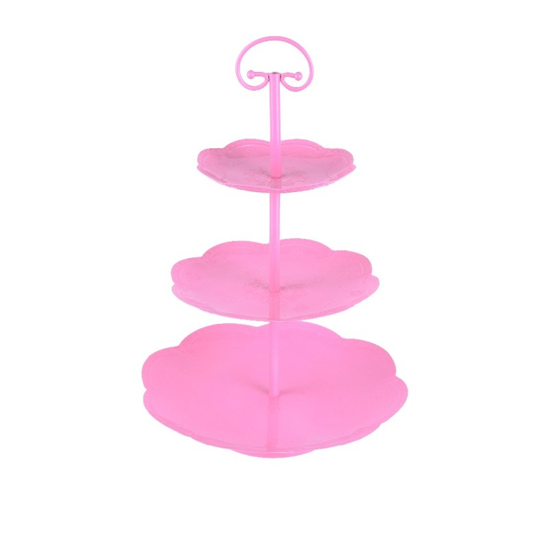 Wideny custom design single package  home wedding party supply 3 tiers detachable metal mesh iron cake stand