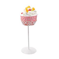 Mini cake stand fancy metal wire single cupcake stand