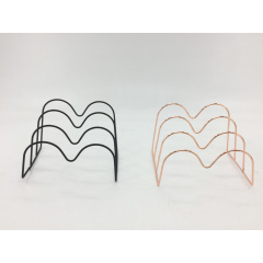 Use for Office Home Rose Gold Black Mail Document File Organizer Iron wire Plating Document Letter Tray Organizer
