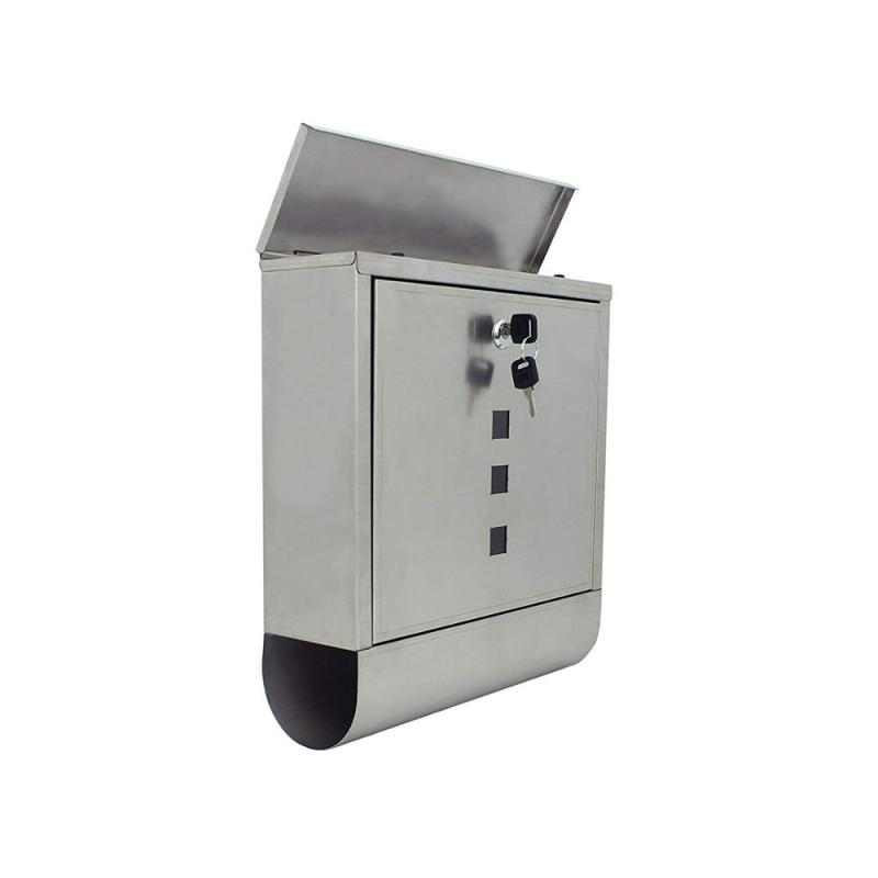 China wholesale white outdoor wall mount mounted mini small hanging house shaped metal mailbox for mail box and mailer box US