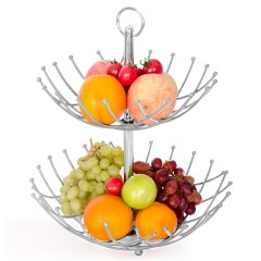 Wholesale kitchen Fashion fruit basket stand with healthy Vegetable food Storage Organizer Basket