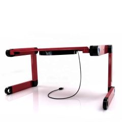 Multi-Functional Foldable Aluminum adjustable laptop desk with fan