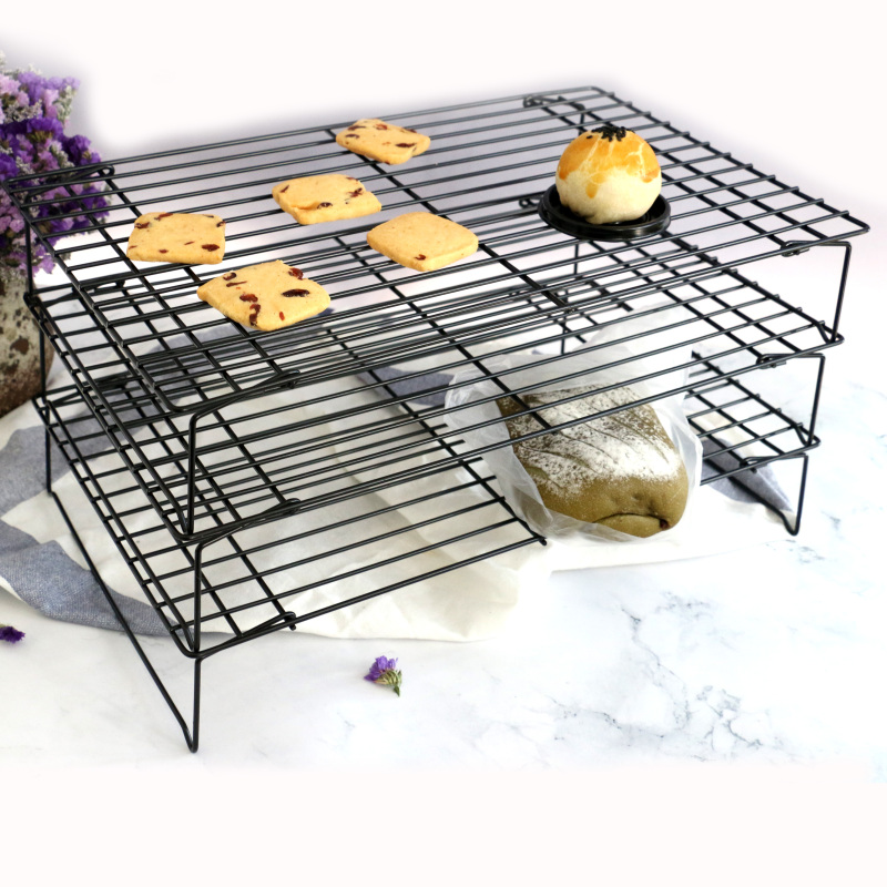 Commercial Quality  Cookies Cakes Breads Stackable holder Stainless Steel Wire Cooling Rack for Baking