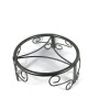 Outdoor customized wrought iron metal black wall flower stand