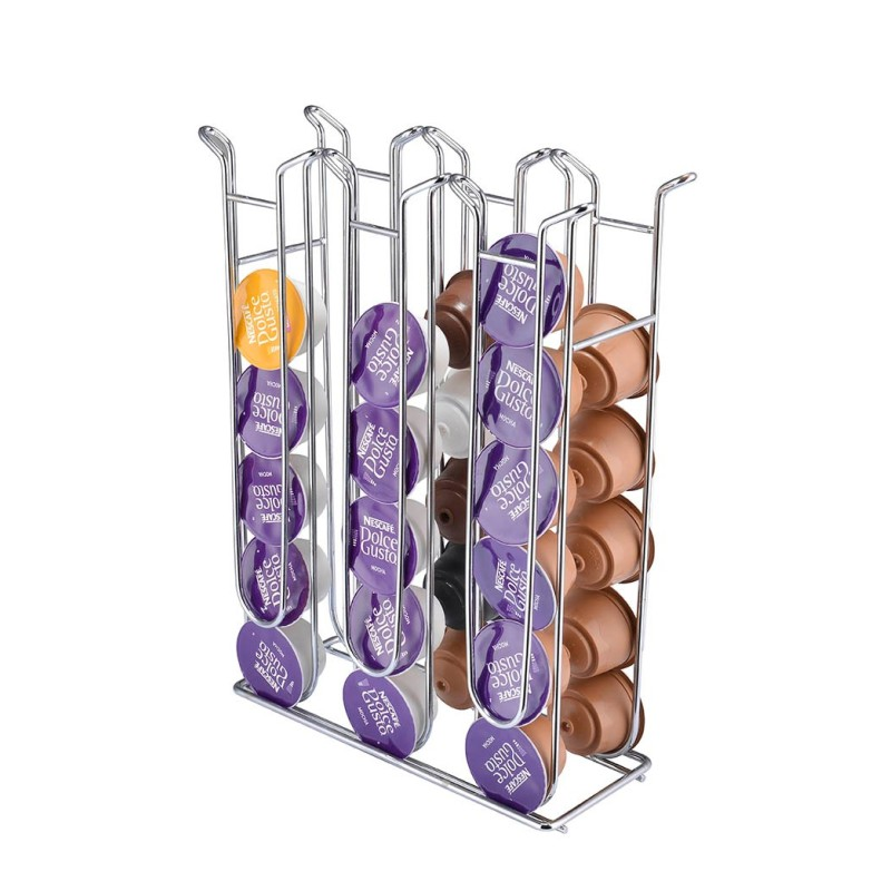 Customize Export Quality Cost Effective Iron chrome plated Dolce Gusto Coffee Capsule Holder for 36pcs