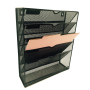 China suppliers wholesale manufacturer document desk desktop Black wire mesh metal hanging office wall file organizer
