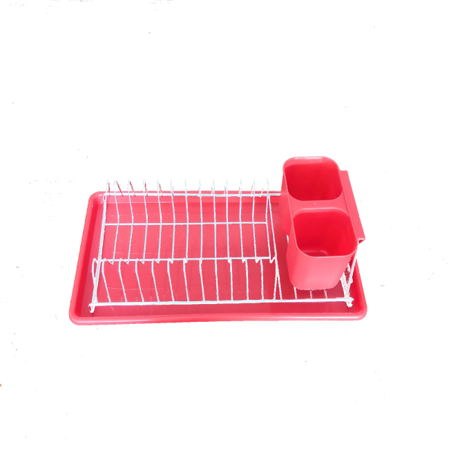 Home Powder Coated Steel Blue Mini Wire Kitchen Dish Rack Dish Drying Rack For Bowl