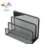 WIDENY Amazon Hot Seal Metal Mesh Pattern Metal Desktop 3 Upright Mail Letter Sorter Colorful Letter Tray