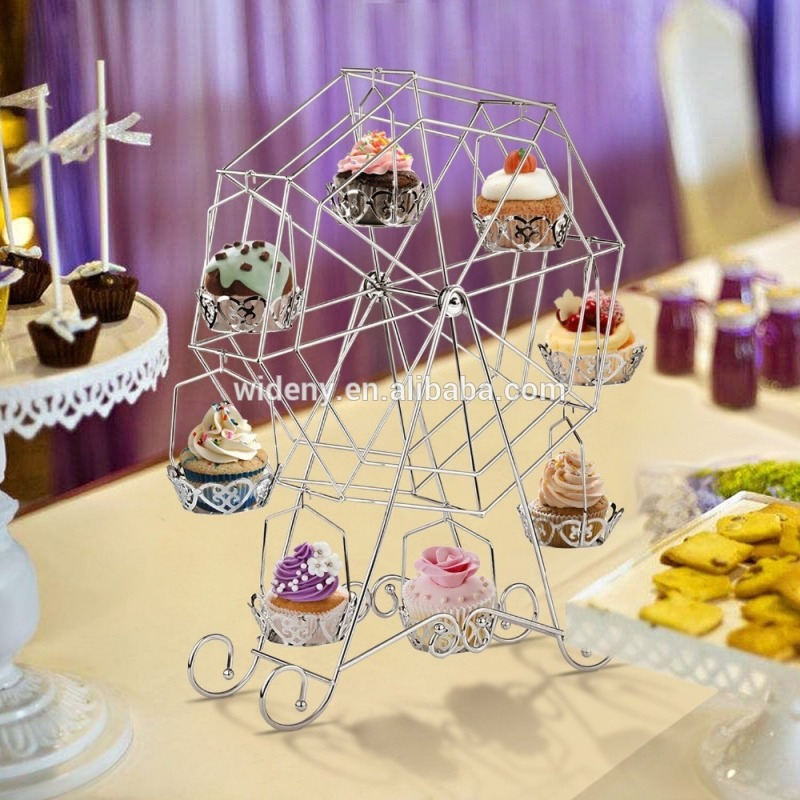 Birthday Party Rotating Turntable wedding Cake Stand or metal cake stand